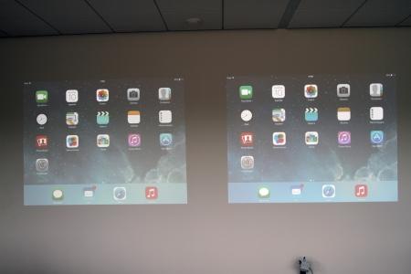 Beginscherm van een iPad Air