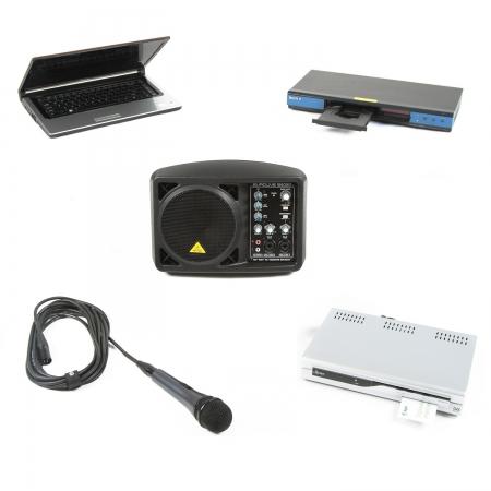 Diverse aansluitmogelijkheden zoals microfoon, laptop, dvd en digitenne.